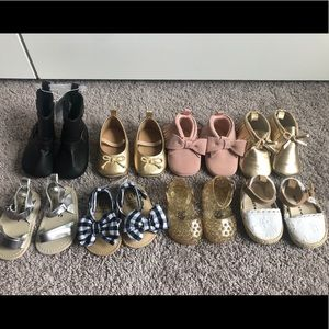 Baby girl Old navy and gap shoe bundle 0/6